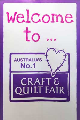 Craft & Quilt Fair sign at EPIC