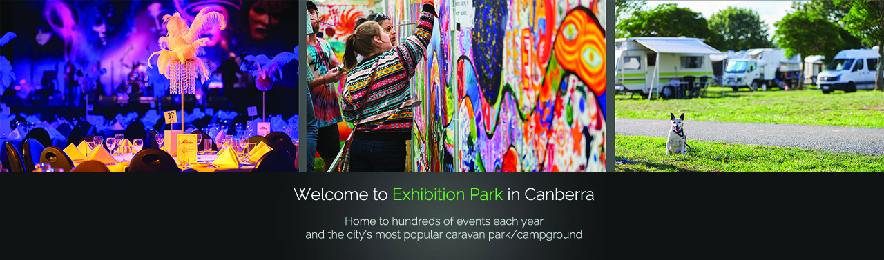 Welcome to Exhibition Park in Canberra - Home to hundreds of events each year and the city's most popular caravan park/campground